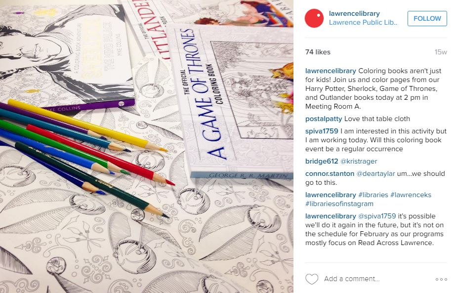 Coloring Book Club promotion